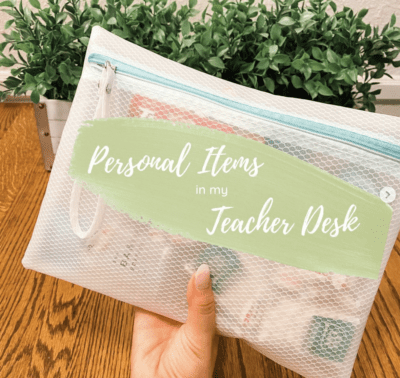 Teacher pouch for personal items
