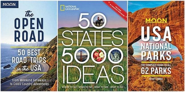 Collage of travel guide covers