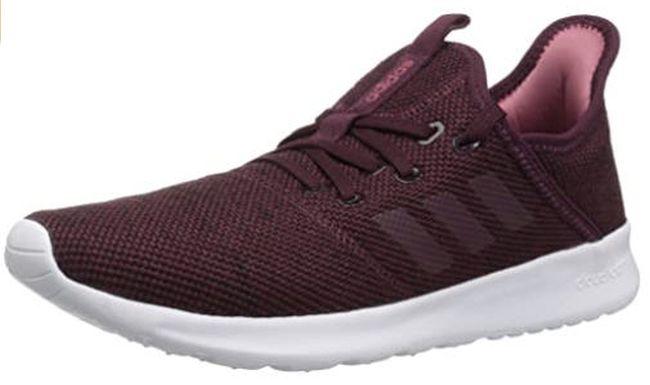 Adidas Cloudfoam running shoes in burgandy