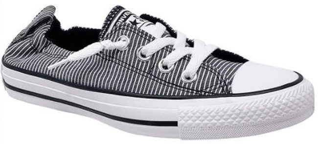 Slip-on Converse Sneakers in black and white stripes