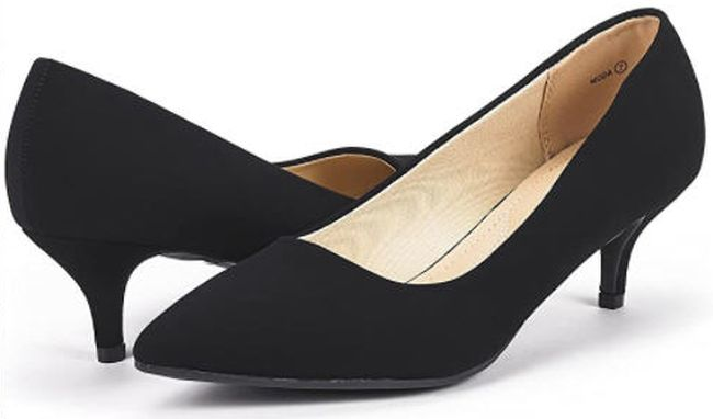 DREAM PAIRS low-heeled D'orsay pumps in black