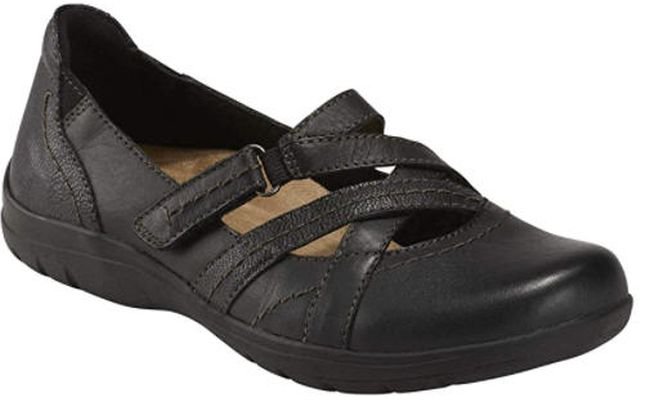 Earth Origins flat shoes with straps in brown (Best Teacher Shoes)