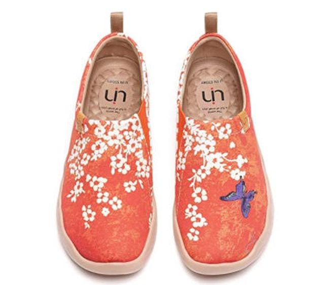 UIN Painted Canvas Flats in orange