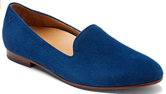 Vionic slip on loafers in royal blue (Best Teacher Shoes)