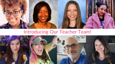 Collage of images for our teacher team