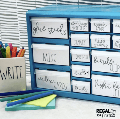 Teacher toolbox kit with drawers