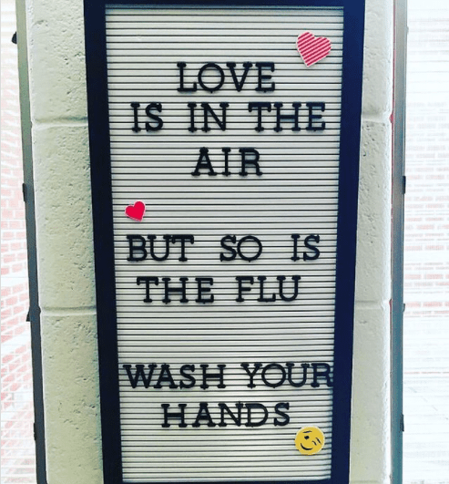 Love is in the air - but so is the flu!