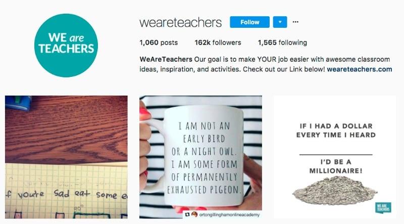 Weareteachers instagram page