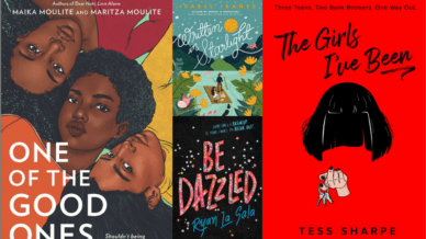 Spread of YA books for teachers to read to identify with students