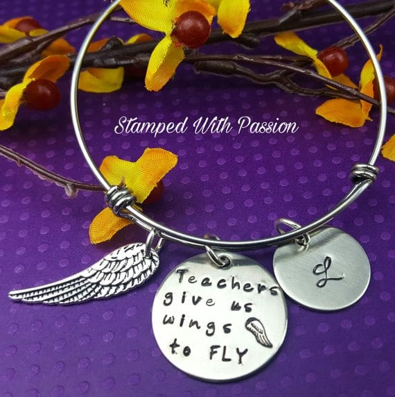 teacher jewelry - wings to fly