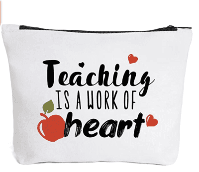 Teaching is a work of heart pencil pouch
