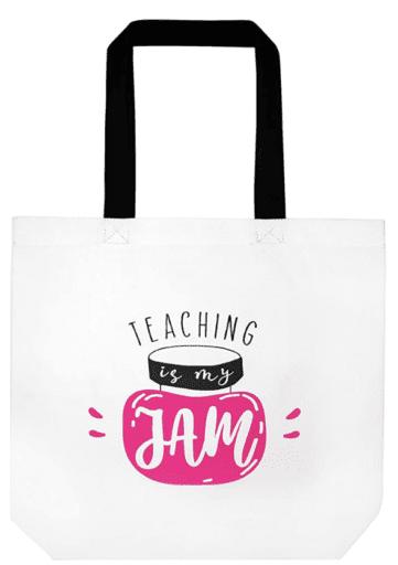 Teaching is my jam tote bag