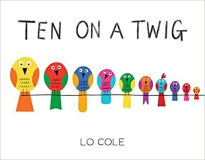 Book cover for Ten on a Twig as an example of books about math for kids