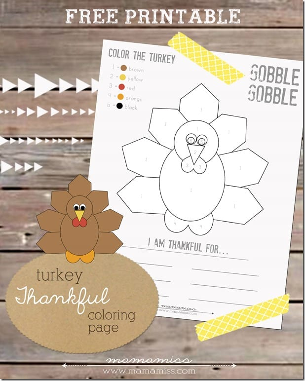 Turkey coloring page.
