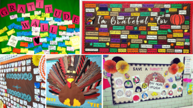 Thanksgiving Bulletin Boards collage