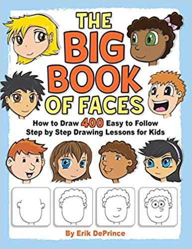 Book cover for The Big Book of Faces as an example of drawing books for kids