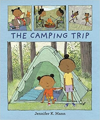 Book cover for The Camping Trip as an example of children's books that teach social skills