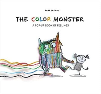 Book cover for The Color Monster: A Pop-Up Book of Feelings as an example of pop-up books for kids