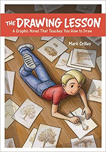 Book cover for The Drawing Lesson as an example of drawing books for kids