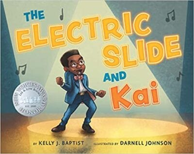 Book cover for The Electric Slide and Kai as an example of music books for kids