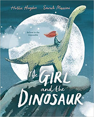 Book cover for The Girl and the Dinosaur as an example of dinosaur books for kids