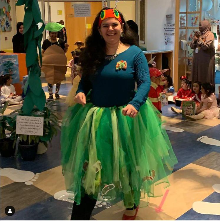öğretmenler için aç tırtıl kostümü fikri