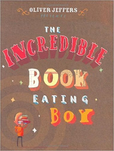 books about reading: book eating boy