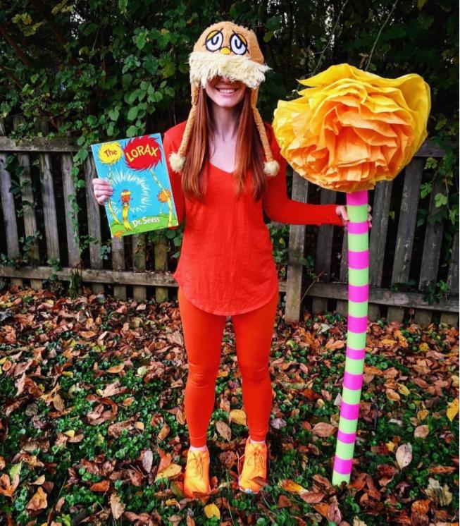 Dr. Seuss Lorax öğretmen kostümü