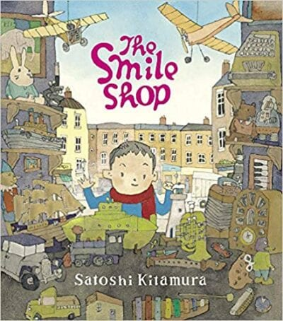 Book cover for The Smile Shop as an example of children's books that teach social skills