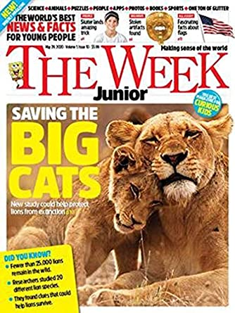 Sample issue of The Week Junior magazine as an example of