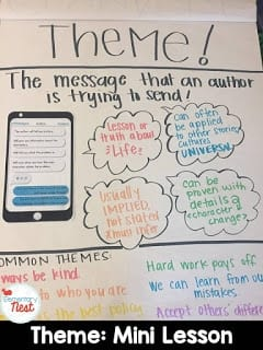 teaching theme messaging with text messages