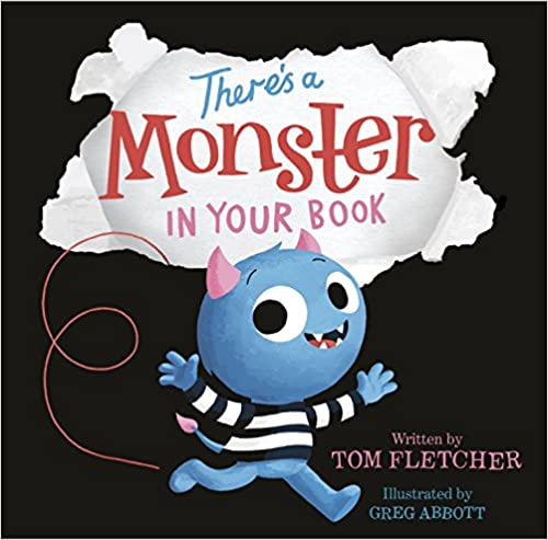 Book cover for There's a Monster In Your Book as an example of kids books about monsters