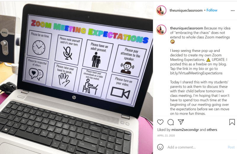 Still of tips for teaching third grade online theuniqueclassroom Instagram post