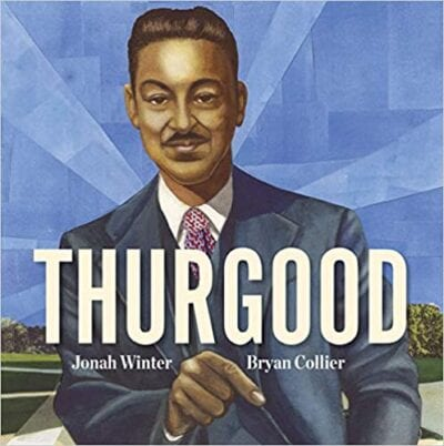 Book cover for Thurgood as an example of social justice books for kids