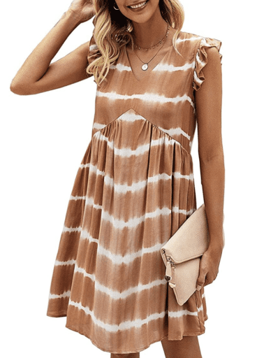 Burnt orange tie-dye dress