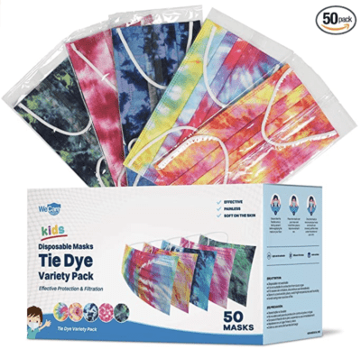 tie-dye 50 pack of disposable masks
