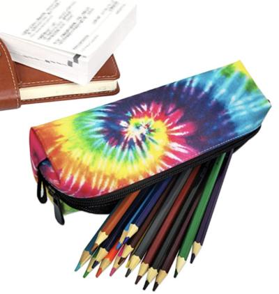 Tie-dye cute pencil pouch