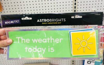 Today's weather magnet set