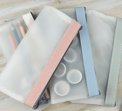 Transparent pencil cases from Etsy