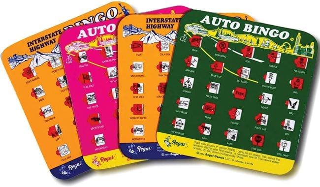 Auto Bingo travel games cards