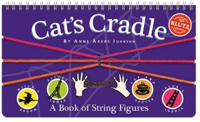 Cat's Cradle book with string loops (Travel Game for Kids)