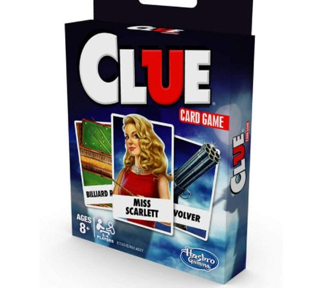 Clue travel card game