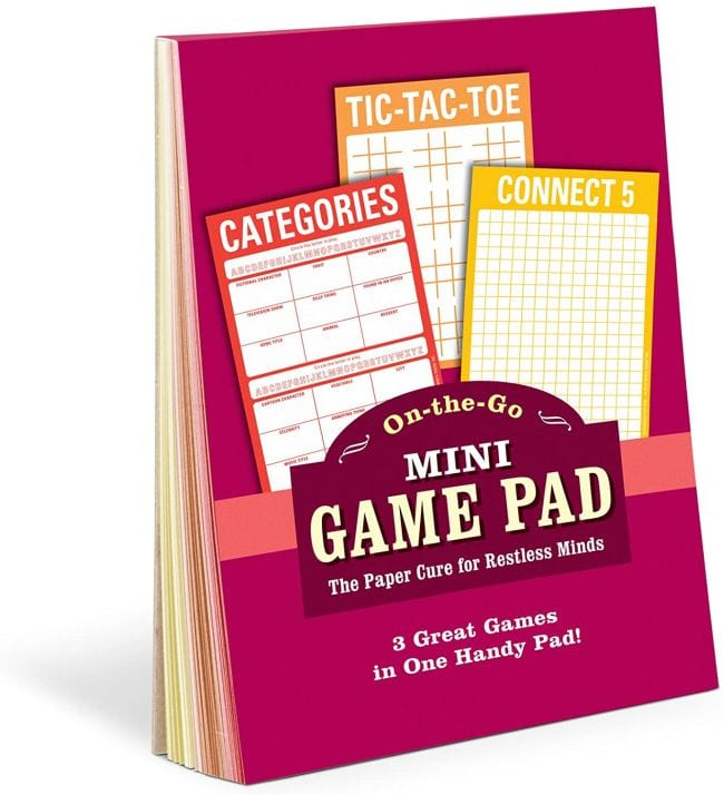 Mini Game Pad with Connect 5, Tic-Tac-Toe, and Category travel games for kids