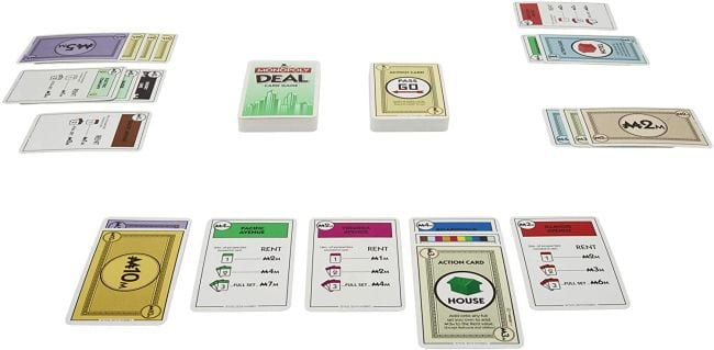 Monopoly Deal card game (Travel Games for Kids)