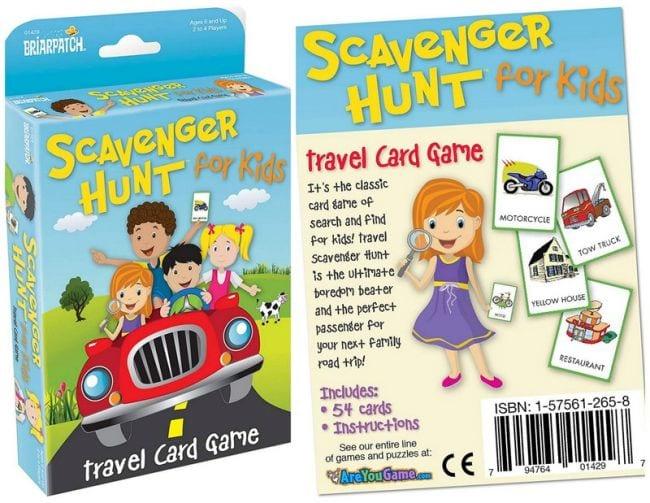 Scavenger Hunt For Kids travel card game