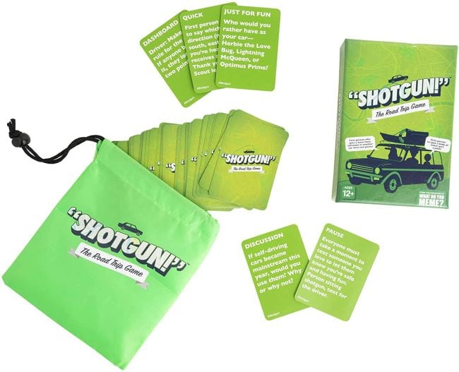 Shotgun! travel games for kids with cards and storage box
