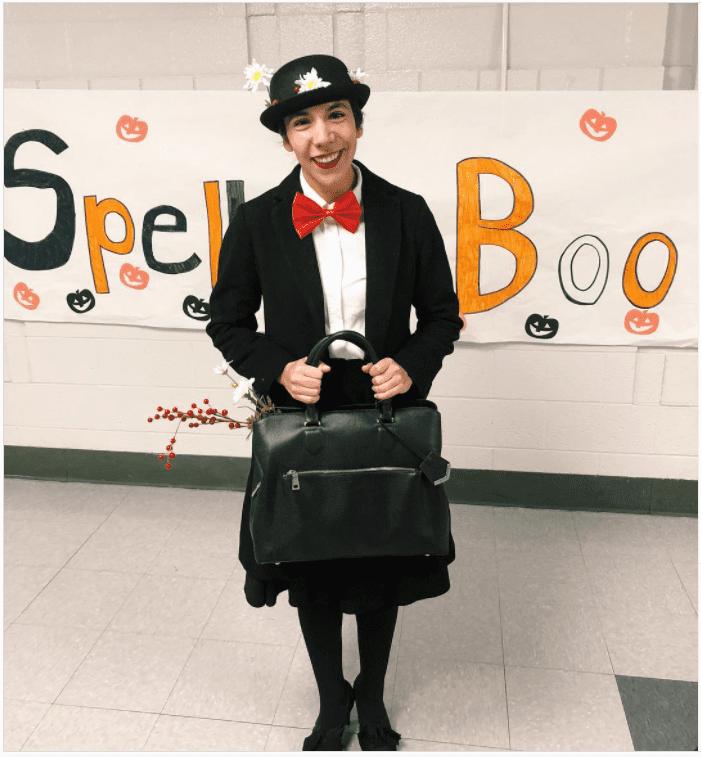Öğretmenler için Mary Poppins kostümü