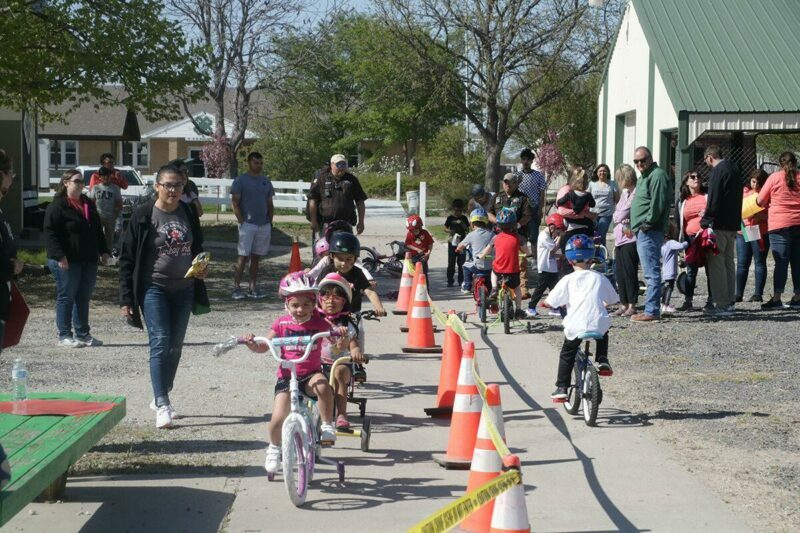 Kids and families at st. jude trikeathon