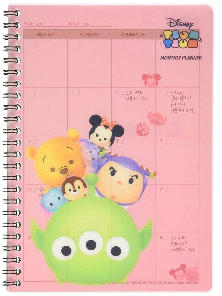 Disney Tsum Tsum Monthly Planner, Scheduler, Organizer
