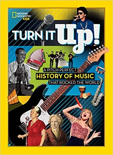 Book cover for Turn It Up as an example of music books for kids